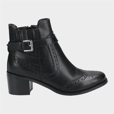 Hush Puppies Womens Rayleigh Ankle Boots in Black