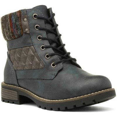 Lunar Chariot Womens Navy Ankle Boot