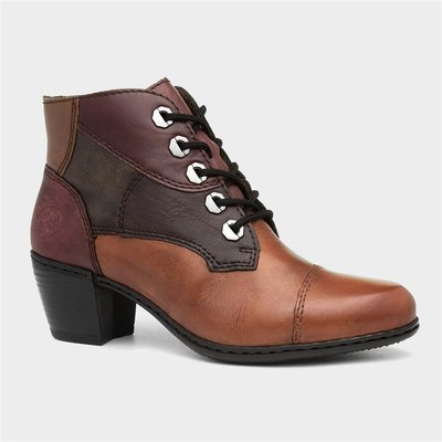 Rieker Womens Multi-Coloured Leather Heeled Boot