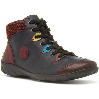 Rieker Womens Navy Ankle Boot