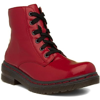 Rieker Womens Red Patent Ankle Boot