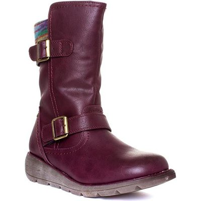 Heavenly Feet Pacific Womens Purple Ankle Boot