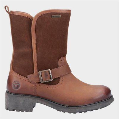 Cotswold Womens Randwick Leather Boot in Tan