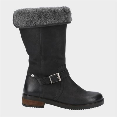 Hush Puppies Womens Bonnie Mid Boots in Black