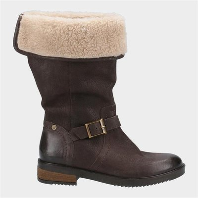 Hush Puppies Womens Bonnie Mid Boots in Brown