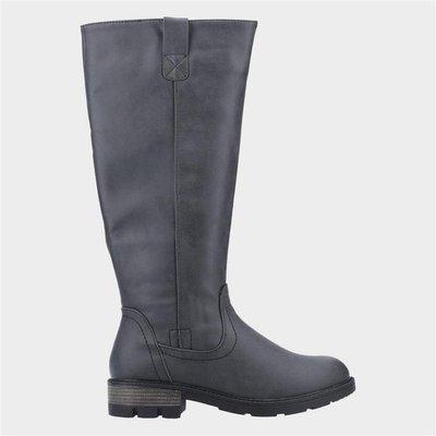 Divaz Womens Quinn Knee High Boot in Black