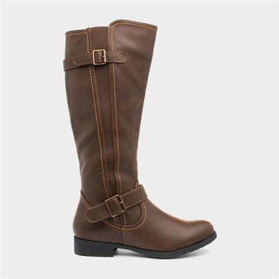 Lilley Womens Brown Knee High Boot