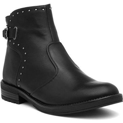 Xti Womens Black Buckled Ankle Boot