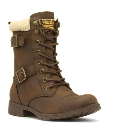 Rocket Dog Billie Womens Brown Lace Up Ankle Boot