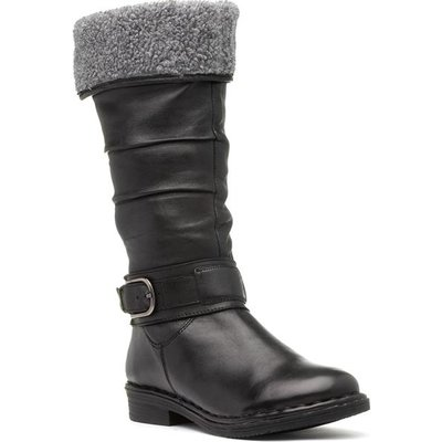 Lotus Talitha Womens Black Calf Boot with Buckle