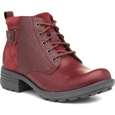 Earth Spirit Paxton Womens Leather Red Ankle Boot