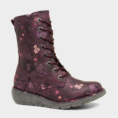 Heavenly Feet Martina 2 Womens Purple Ankle Boot