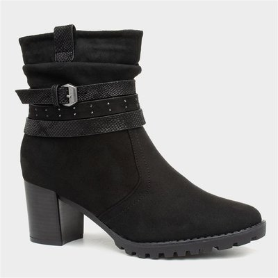 Sprox Womens Heeled Ankle Boot in Black