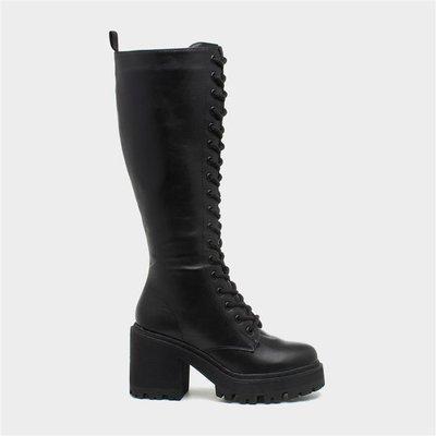Truffle Fuzzy31 Womens Black Knee High Boot