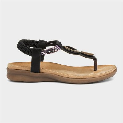 Heavenly Feet Honeydew Womens Black Sandal