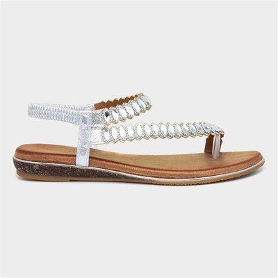 Lunar Novella Womens Silver Sandal