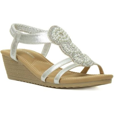 Lilley And Skinner Womens Wedge Sandal in Silver