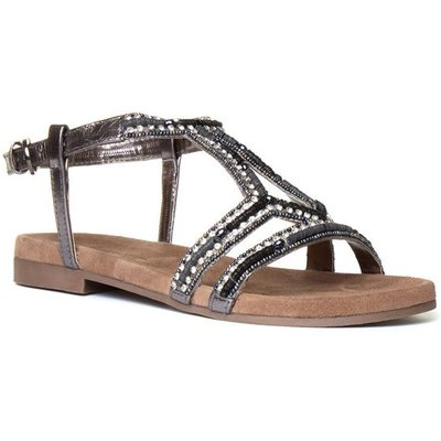 Lilley And Skinner Womens Silver Diamante Sandal