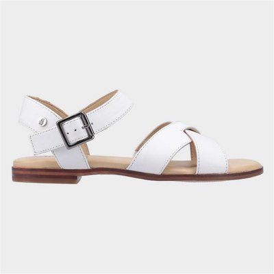 Hush Puppies Lila Buckle Sandal in White