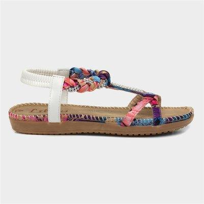 Lilley Womens Multi-Coloured Slip On Sandal