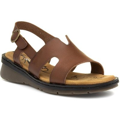 Heavenly Feet Jasper Womens Tan Wedge Sandal