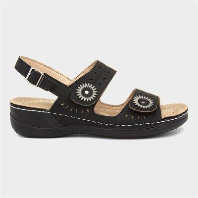 Cushion Walk Meryl Womens Black Sandal