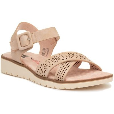 Xti Womens Nude Pink Wedge Sandal