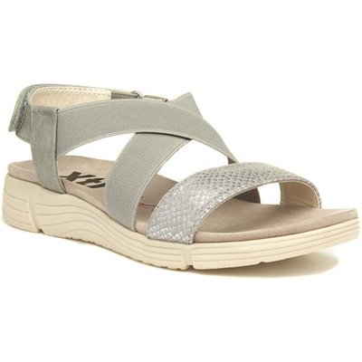 Xti Womens Silver Touch Fasten Wedge Sandal