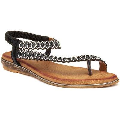 Lunar Novella Womens Black Flat Sandal