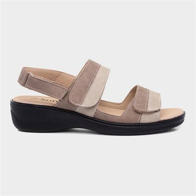 Softlites Womens Comfort Sandal in Beige