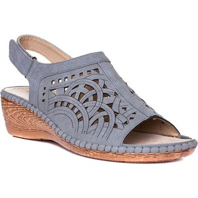 Cushion Walk Womens Grey Wedge Sandals