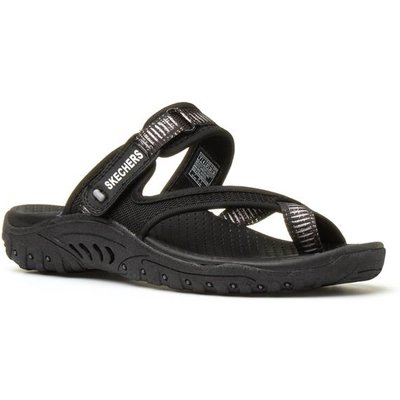 Skechers Reggae Womens Black Slip On Sandal