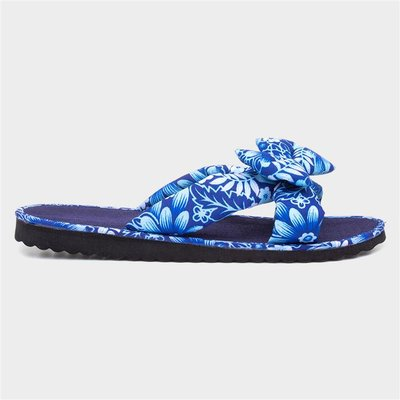 Softlites Womens Blue Beach Mule