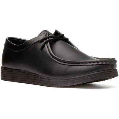 Beckett Mens Leather Lace Up Shoe in Black