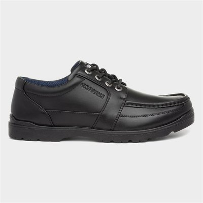 US Brass Mens Black Lace Up Smart Shoe