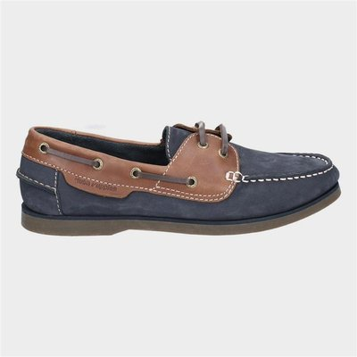 Hush Puppies Henry Classic Lace Up Shoe in Blue