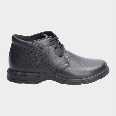 Hush Puppies Reggie Lace Up Shoe in Black