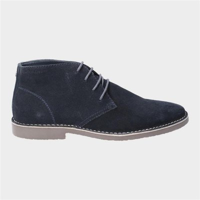 Hush Puppies Freddie Lace Up Desert Boot in Blue