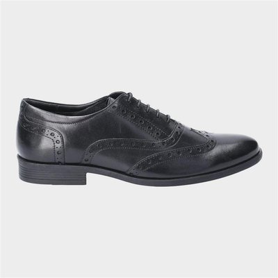 Hush Puppies Oaken Brogue Lace Up Shoe in Black
