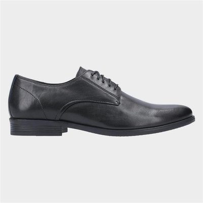Hush Puppies Oscar Clean Toe Lace Up Shoe in Black