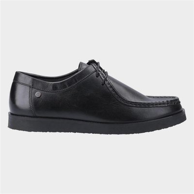 Hush Puppies Will Wallabee Lace Up Shoe in Black