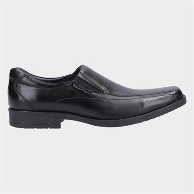 Hush Puppies Mens Brody Slip On Shoe in Black