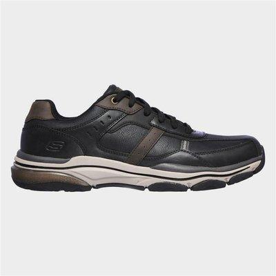 Skechers Mens Romago Elmen Lace Up Black Shoe