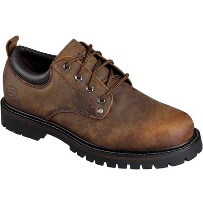 Skechers Mens Tom Cats Lace Up Shoe in Brown