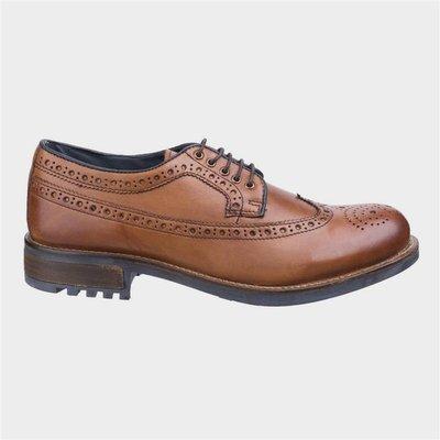 Cotswold Poplar Mens Tan Leather Brogue Shoe