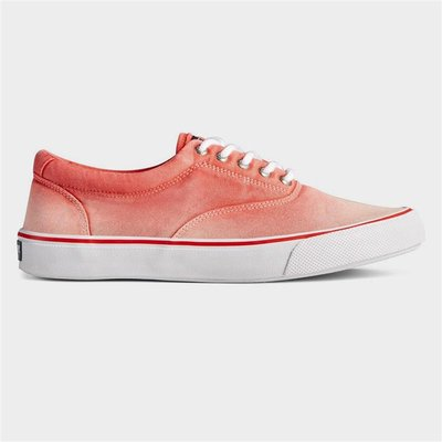 Sperry Mens Striper II Ombre Lace Shoes in Red