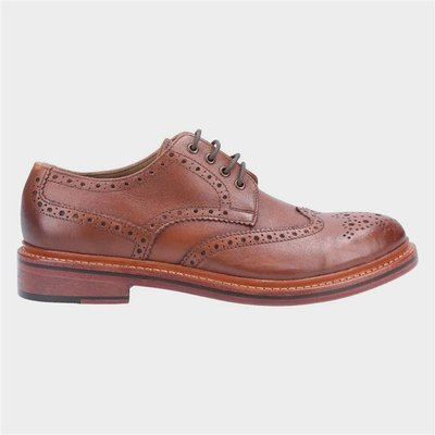 Cotswold Quenington Mens Brown Leather Brogue