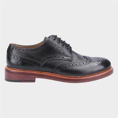 Cotswold Quenington Mens Black Leather Brogue