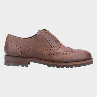 Hush Puppies Mens Tobias Leather Brogue in Brown