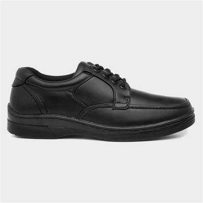 Hobos Mens Black Lace Up Shoe